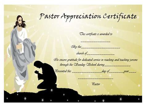 21 Best Pastor Appreciation Certificate Templates Images Pastor Appreciation Certificate Template 28 Images 21