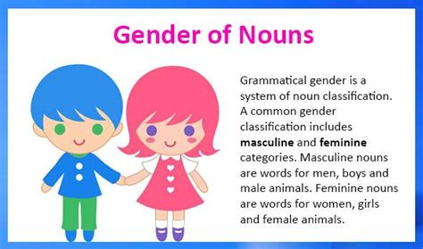 masculine and feminine gender of nouns exles and