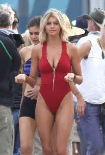 ann kristin aafedt flatland bikini kelly rohrbach on baywatch set 36 gotceleb
