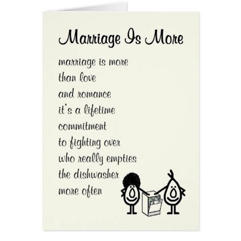 marriage   funny wedding anniversary poem card