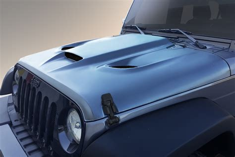 jeep hood 2007 2018 jeep wrangler duraflex hellcat styled hood 113214