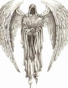 Angel drawing Dark angels and Angel on Pinterest   Tattoos ...