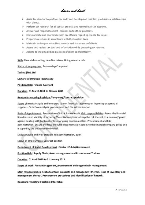 detailed resume cover