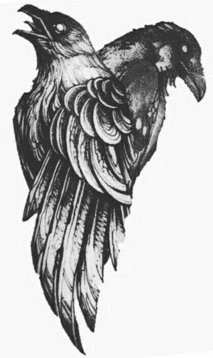 Muninn anf huginn | Viking tattoos, Nordic tattoo, Raven