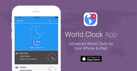 world clock app timeanddatecom iphone ipad