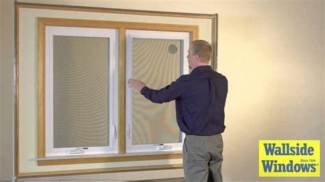 casement window screen operation youtube