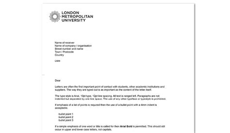 headed paper london metropolitan university