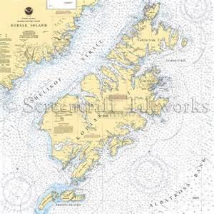 kitchen island price alaska kodiak island nautical chart decor