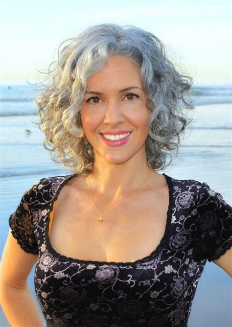 curly gray hair ideas  pinterest  grey