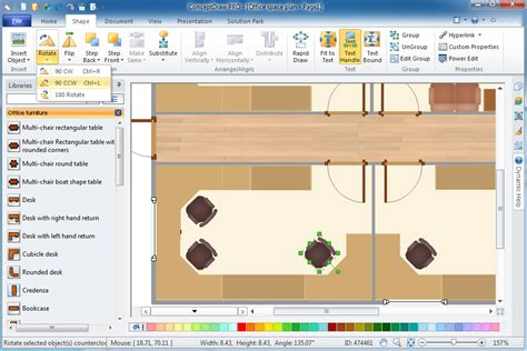 office design layout software office plan software