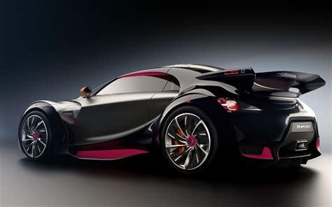 Black Citroen Sports Car Hd Wallpaper