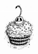 Cupcake Tattoo Jack Designs Deviantart Skelling Anarch Inks Tattoos Coloring Drawing Skellington Christmas Disney Nightmare Cupcakes Before Pages Drawings Skull sketch template