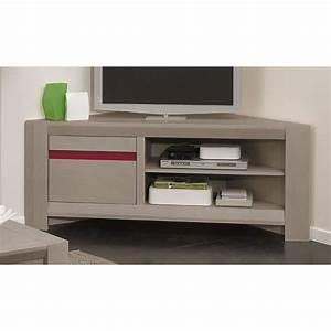 Meuble Chene Gris : meuble tv macao ch ne gris achat vente meuble tv meuble tv d angle ch ne mas cdiscount ~ Teatrodelosmanantiales.com Idées de Décoration