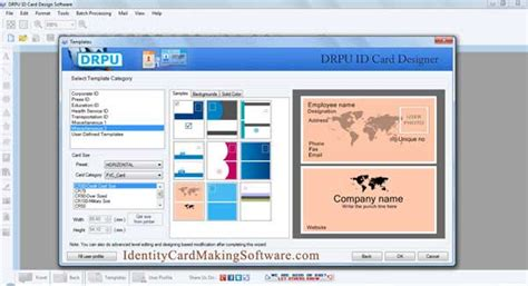 Identification Card Making Software 8301