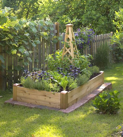 Kitchen Design Idea - small space gardening build a tiny raised bed midwest living