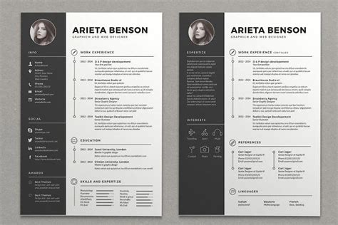 Clean Creative Resume Templates by Clean Cv Resume By Estartshop On Creativemarket Pin