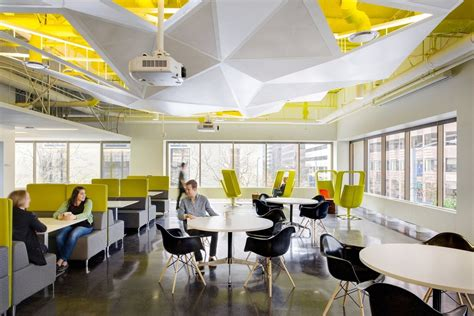 Futuristic Office Design with Unique Exposed Ceiling Ideas