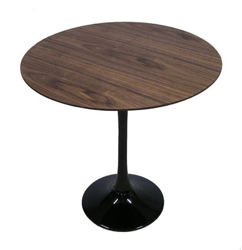 walnut veneer table top barbell side table w walnut veneer top hoopers modern