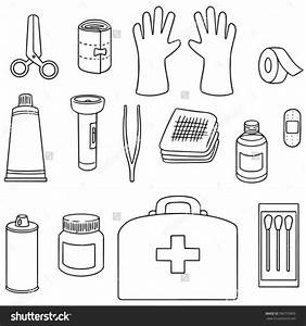First Aid Materials Drawing The Guide Worksheets For Girl