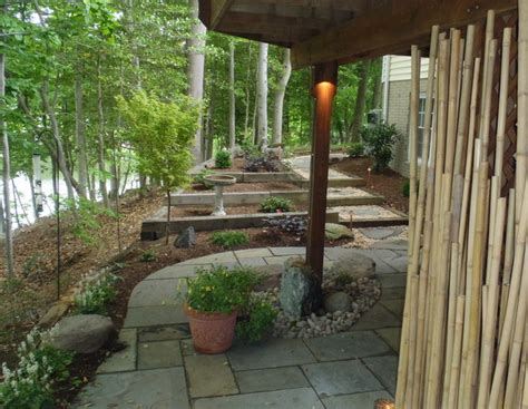 creating a zen garden in a small lakeside space