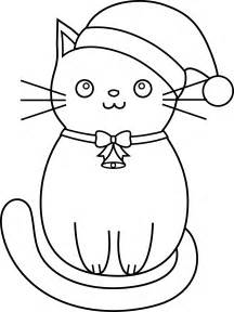 Coloring Pages Christmas Cat Clip Art