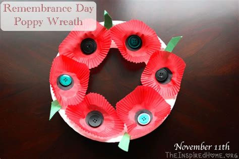 remembrance day poppy wreath craft wreath crafts crafts