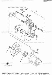 Yamaha Atv 2007 Oem Parts Diagram For Rear Brake