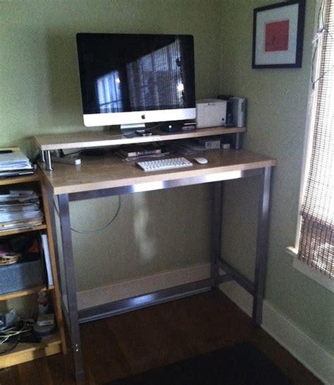 ikea standing desk legs hack a standing desk from ikea