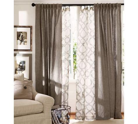 layered curtains ideas  pinterest curtains