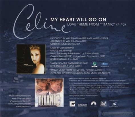 cã line dion my will go on my heart will go on single celine dion the power of