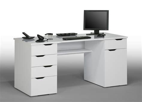 but bureau informatique bureau informatique design laqué blanc claudelle bureau