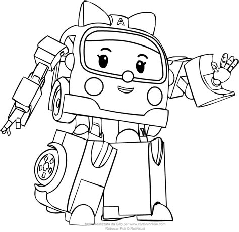 Kleurplaat Robocar Poli by From Robocar Poli Coloring Pages