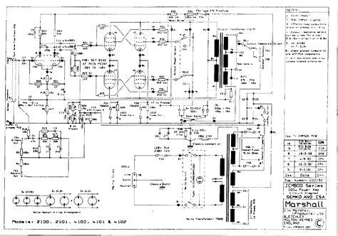 Marshall Jcm Power Amplifier Sch Service Manual