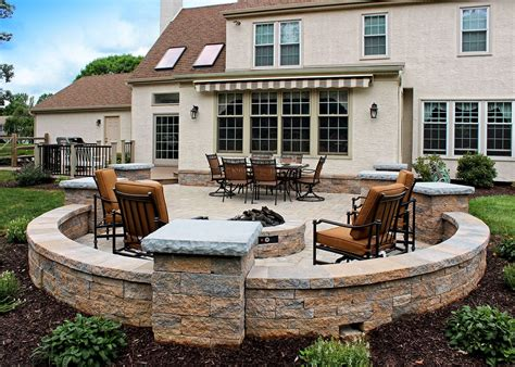 deck patio masonry features stone walls columns