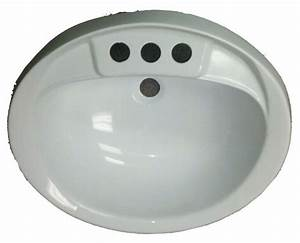 17quot X 20quot Oval White Plastic Sink For Mobile Home
