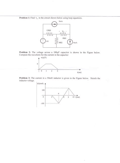 Solved Find The Circuit Shown Below Using Loop Equa