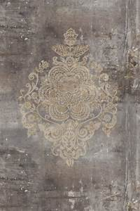 fototapete vlies designtapete digitaldruck damask With markise balkon mit tapete vintage look