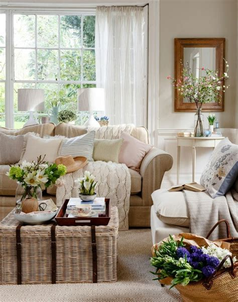 ideen fuer moderne wohnzimmer landhausstil einrichtung