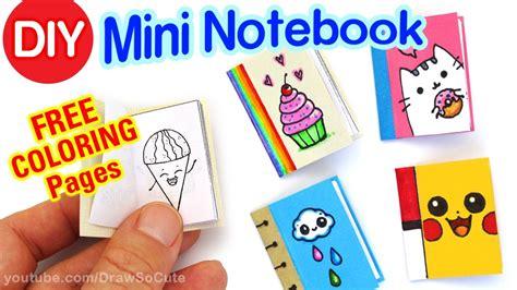 mini notebook easy cute diy craft youtube