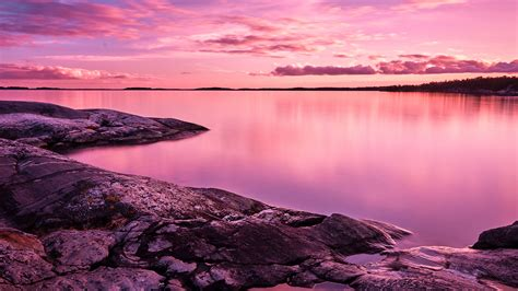 pinky sunset landscape   wallpapers hd wallpapers