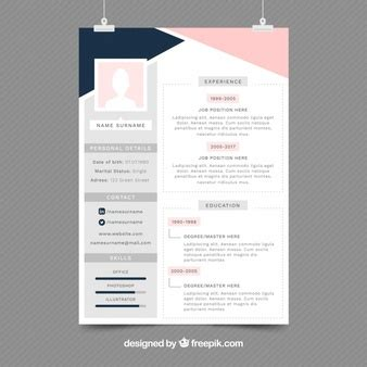 16593 template for resumes cv template vectors photos and psd files free