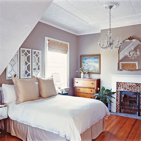 simplistic grey master bedroom  comfy cottage rooms coastal living