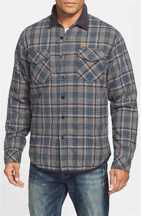 flannel shirt jacket with quilted lining mens flannel shirt jacket with quilted lining zip