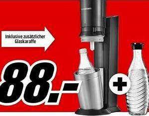 Sodastream Glaskaraffe 1 Liter : media markt sodastream crystal 2 0 wassersprudler f r 88 ~ Watch28wear.com Haus und Dekorationen