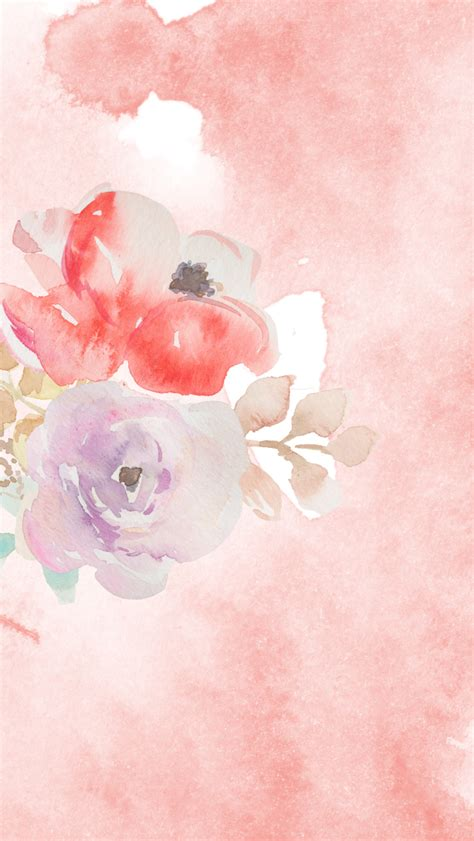 Here you can find the best watercolor flowers wallpapers uploaded by. DLOLLEYS HELP: Free Watercolor iPhone 5s Wallpapers