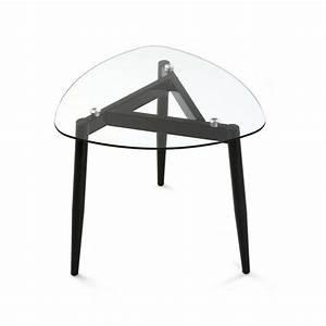Table Basse 3 Pieds : table basse verre 3 pieds metal noir versa cristal 19840210 ~ Teatrodelosmanantiales.com Idées de Décoration