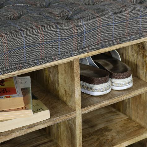 Upholstered Shoe Storage Bench by Large Rustic Upholstered Bench With Shoe Storage Melody