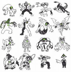 Ben 10 Aliens by 4elementGURU on DeviantArt