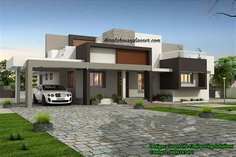 contemporary kerala house design   sqft idukki