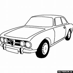 free online coloring pages thecolor With alfa romeo drawings